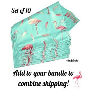 Other - Set of 10 Flamingo Shipping Bags ~ Poly Mailers